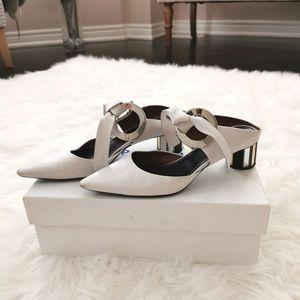 SOLD Proenza Schouler White Grommet Mirrored heels